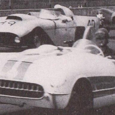 1950'S CORVETTES AND T-BIRDS RACING AT MARTINSVILLE SPEEDWAY 500 - 05