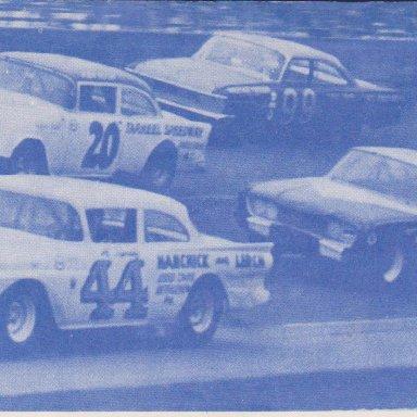 TS04A1 #44 AL TASNADY FORD, #20 KEN RUSH TARHEEL SPEEDWAY, #99 FIREBALL ROBERTS 1961 FORD, #16 JOHNNY GOUVELA FORD, 1964 200 Mile Modified-Sportsman race at Daytona  PHOTO