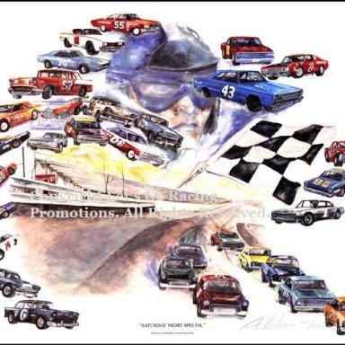 Middle Georgia Raceway - Print By Georgia Sports Artist Pete Henderson