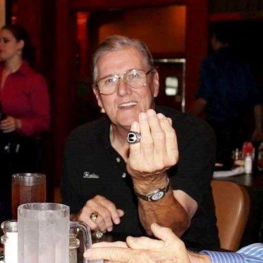 Harlow showing Rex White HOF Ring
