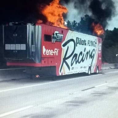Car 46 trailer fire on I 20