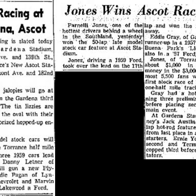 Parnelli Jones - 1959 Ascot Park