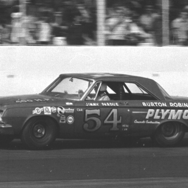 Jimmy Pardue #54 - 1964 Southern 500 at Darlington