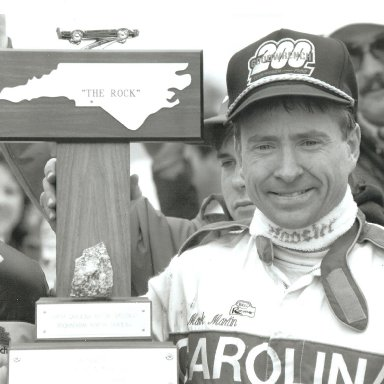 The Rock-Victory Lane-Mark Martin