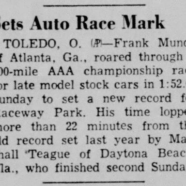 1953 Toledo - Frank Mundy