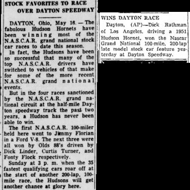 May 18, 1952 Dayton Speedway