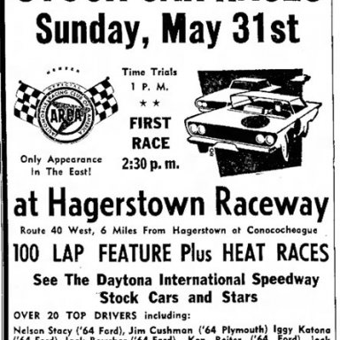 May 31, 1964 Hagerstown Raceway