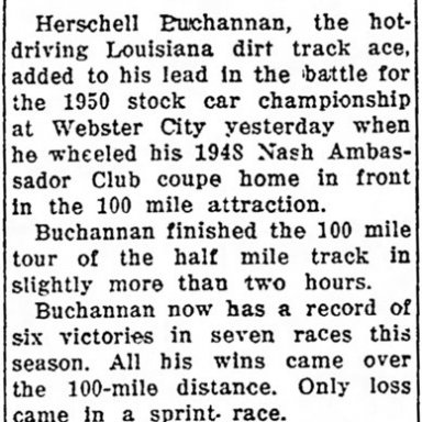 June 4, 1950 Hamilton County Speedway