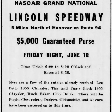 June 9, 1955 Lincoln Speedway
