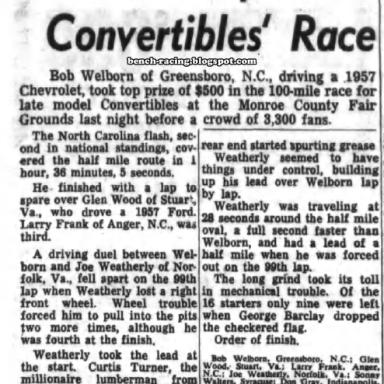 June 14, 1957 Monroe County Fairgrounds
