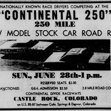 June 28, 1964 Continental 250