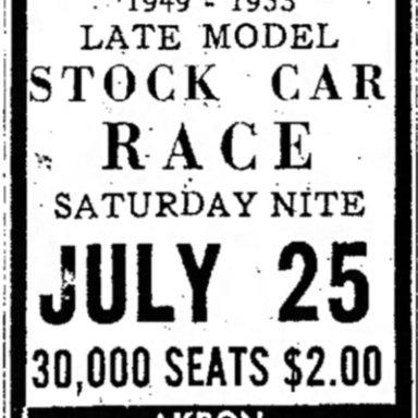 July 25, 1953 Akron Rubber Bowl