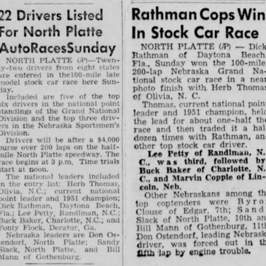 July 26, 1953 Nebraska State Fairgrounds