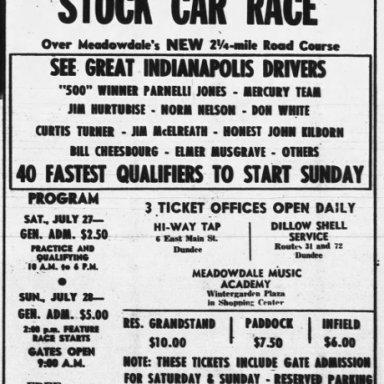July 28, 1963 Meadowdale International Raceway