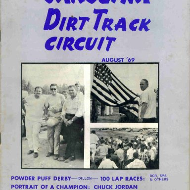 Carolina Dirt Track Circuit Magazine August 1969