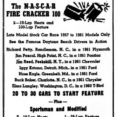 Eastern Late Model Nascar Series