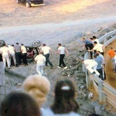 Gene Glover crash, Kingsport Speedway, 1968