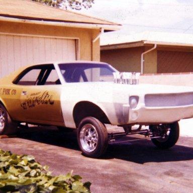 early race car