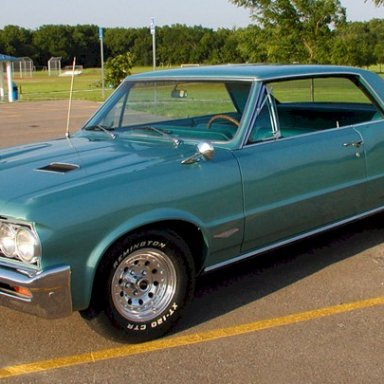 1964 GTO...Aquamarine paint just as Don and I ordered...great memories