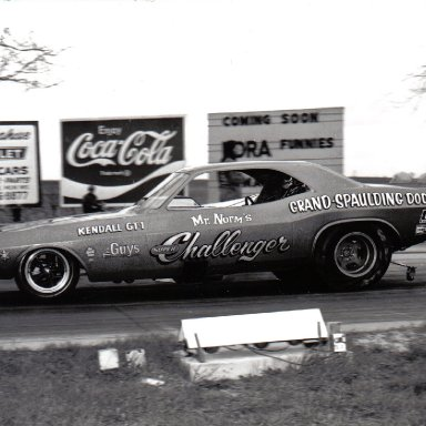 Gary Dyer in the Mr. Norm Challenger funny car
