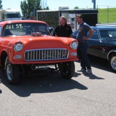 55 chevy 68 Camaro