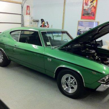 1969 green 69 ss chevelle
