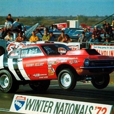 Barry Poole's '72 Comet Pro Stock drag car