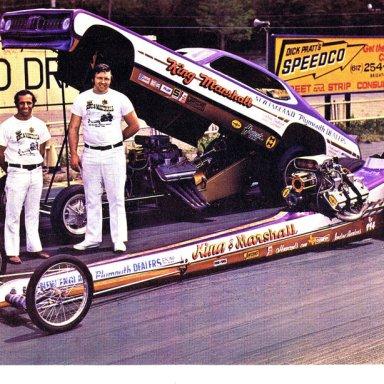 king & marshall dragster and funny car