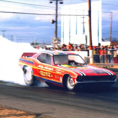 mike the hippie mitchell funny car