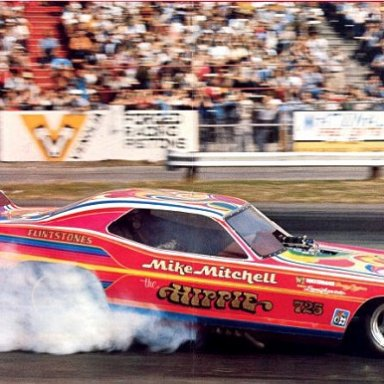 Mike the hippie Mitchell Cuda funny car