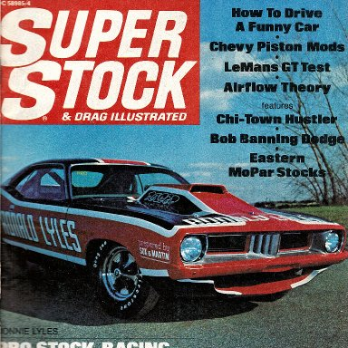 MARCH OF 1972  SUPER STOCK MAGAZINE