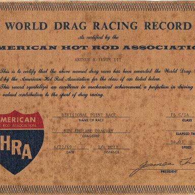 AHRA Record