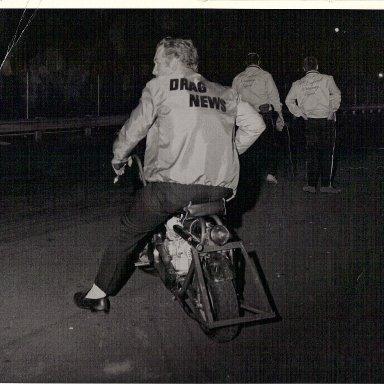 Dad on mini bike