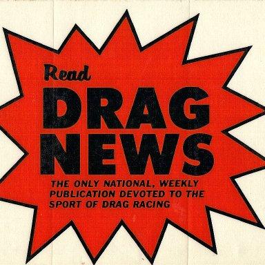 Oiginal Drag News decal
