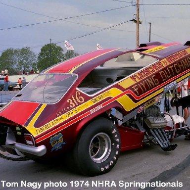Stan Bowman 1974 NHRA Springnationals #1
