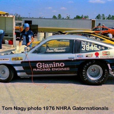 Sam Gianino 1976 NHRA Gatornationals