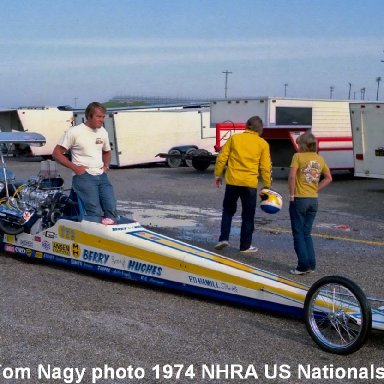Dwight Hughes 1974 NHRA US Nationals #1b