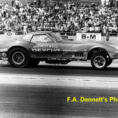 In 1970 - Corvette; PSYCHO Funny Car