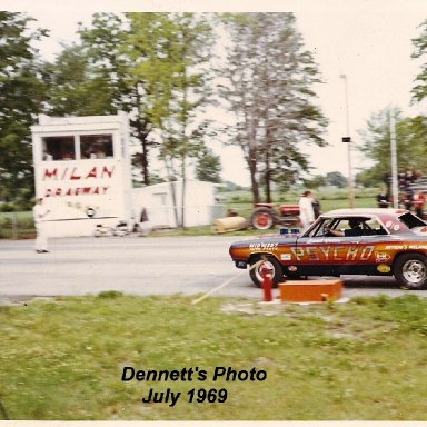 In 1969 at Milan Dragway, Michigan