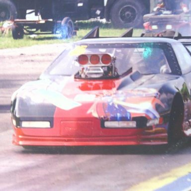 Corvette on Track- After Burn-out