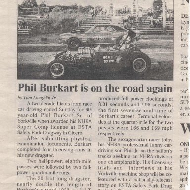 Life and times of Utica article on Phil Burkart Sr