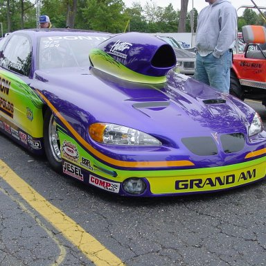 John Powers Pontiac Pro Stock in staging