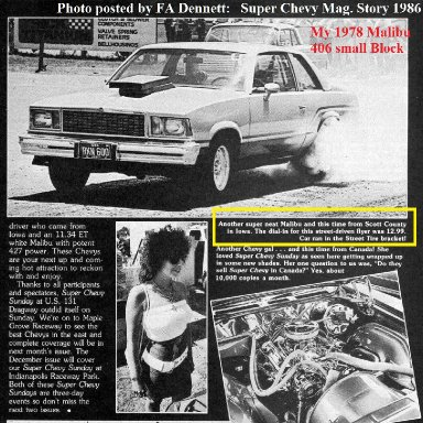 1986 my car on the Super Chevy Magazine