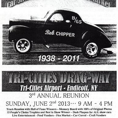 Tri-Cities Dragway Reunion Poster