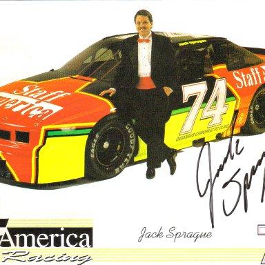 #74 Jack Sprague Staff America