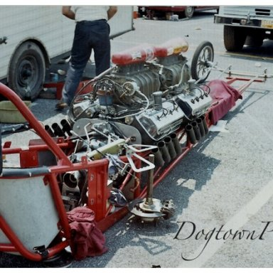 2 engine dragster, York, 7-70
