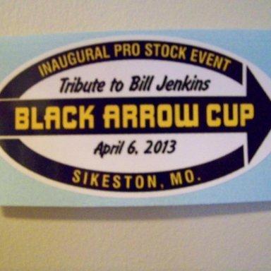 APRIL 2013 BLACK ARROW CUP DECAL