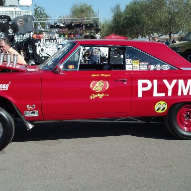 Red PLYMOUTH