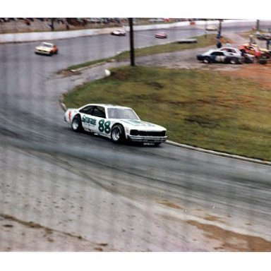 Darrell Waltrip in turn one at Franklin County