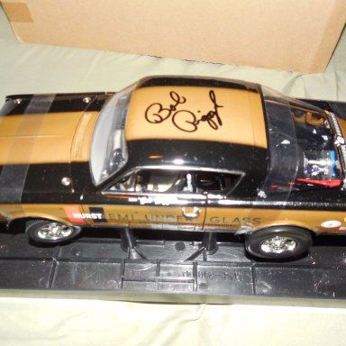"Bob Riggle signed ""hemi under glass"" Cuda diecast"